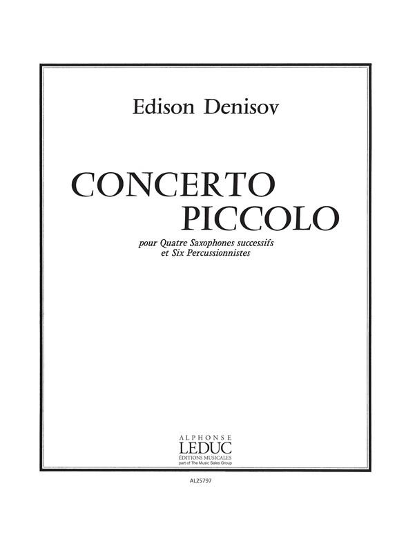 ConcertoPiccolo(1977)para saxofón. Edison Denisov