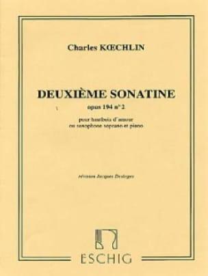 DeuxiemeSonatineop.194b(1943)para oboe d'Amore en La o saxo soprano. CharlesKoechlin
