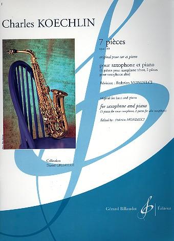 7Piecesop.180para saxofón alto y tenor y piano. CharlesKoechlin