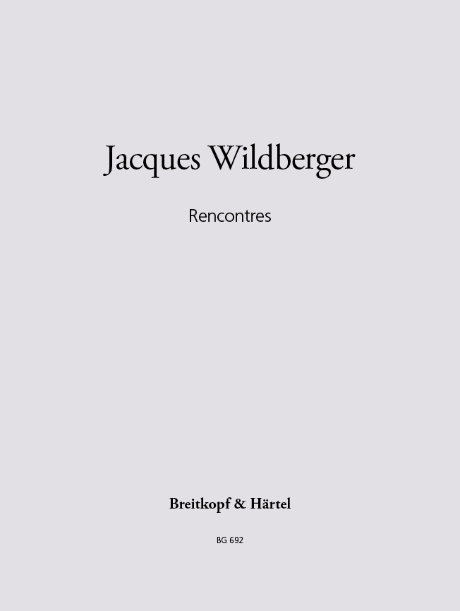 Recontres(1967) Jacques Wildberger
