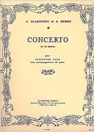 Saxophone Concertoen Mi b. AlexanderGlazounov