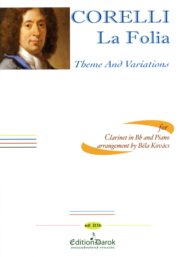 LaFoliapara clarinete y piano.ThemaundVariationen. ArcangeloCorelli