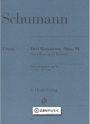 DreiRomanzenop.94para saxofón soprano y piano. RobertSchumann