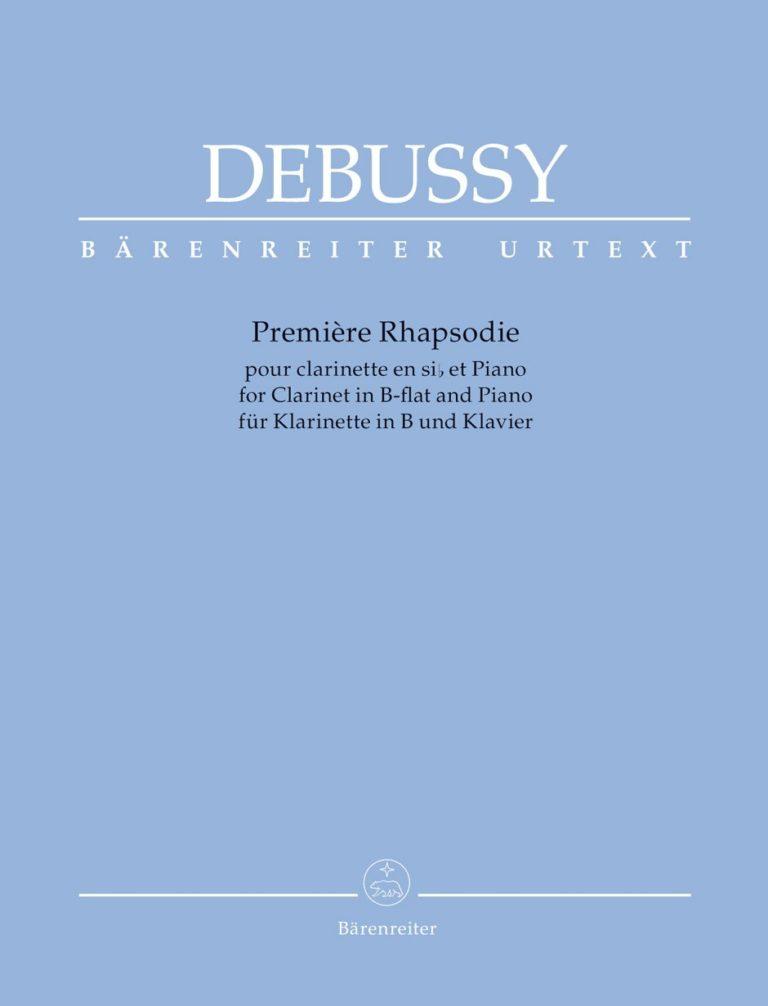 PremiereRhapsodiepara clarinete y piano. ClaudeDebussy
