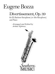 Divertissementop.39para saxofón barítono y piano. Eugene Bozza