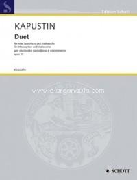 Duettop.99(1999)para saxofón alto y violonchelo. Nikolai Kapustin