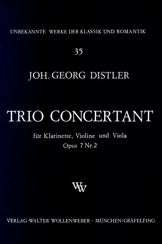 TrioConcertantop.7No.2para clarinete, violín y viola. JohannGeorgDistler