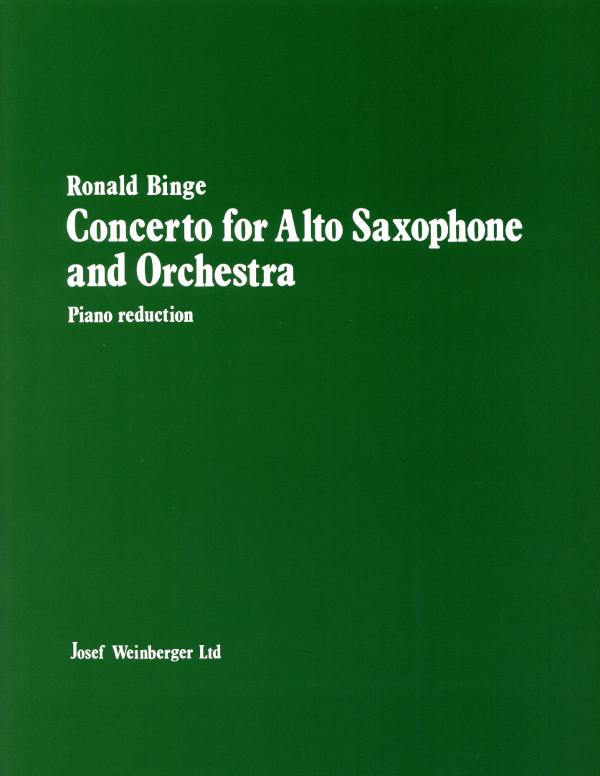 Concerto(1956)para saxofón alto y orquesta. Ronald Binge