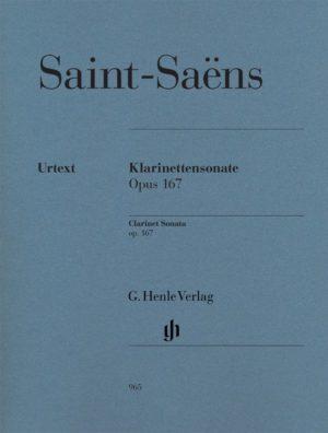 Sonateop.167para clarinete y piano. CamilleSaint-Saens