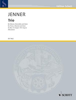 TrioinEs-Dur(1900)para piano, clarinete y trompa en Mib. Gustav Jenner