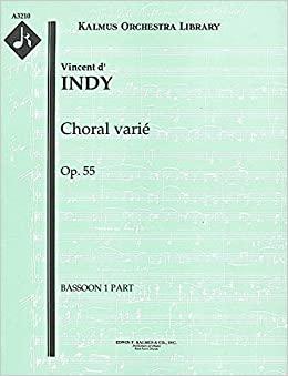 ChoralVarieop.55para saxofón alto y orquesta.Vincentd' Indy