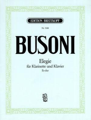 ElegieinEs-Dur(ca1920)para clarinete y piano. Ferruccio Busoni