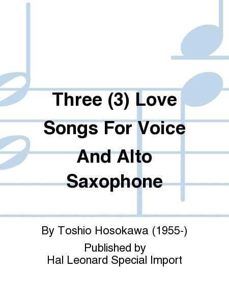 ThreeLoveSongspara saxofón alto. Toshio Hosokawa