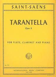 Tarantellaop.6para flauta, clarinete en A y piano. Camille Saint-Saens