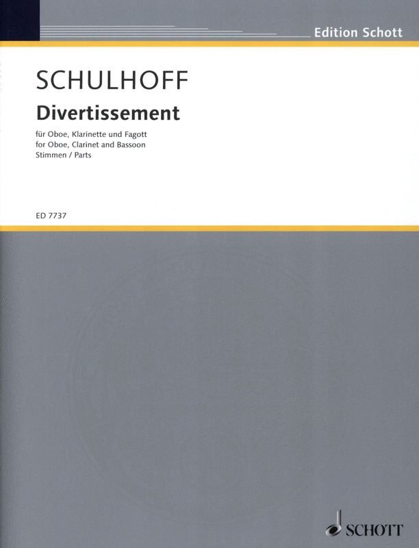 Divertissement(1927)para oboe, clarinete, fagot. Erwin Schulhoff