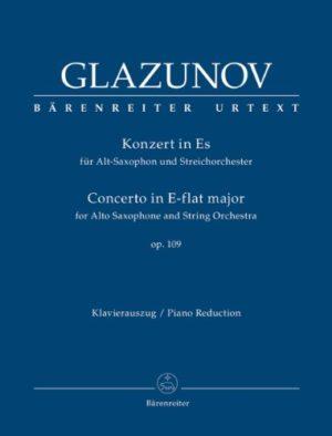 KonzertinEs-Durop.109(1934)para saxofón alto y orquesta de cuerdas.AlexanderGlazounov