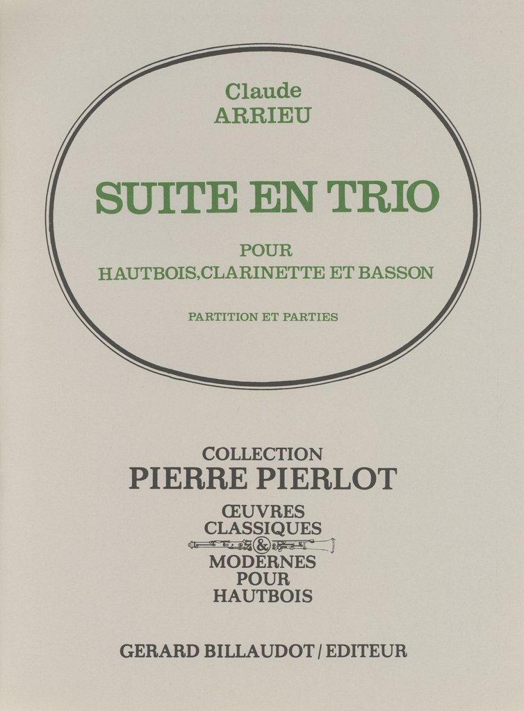 SuiteenTrio(1936)para oboe, clarinete y fagot. Claude Arrieu