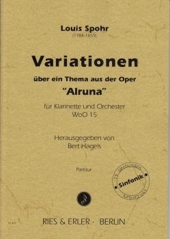 VariationenübereinThemaausderOper'Alruna'(1809)para clarinete. LouisSpohr