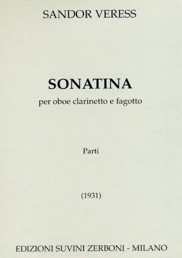 Sonatina(1931)para oboe, clarinete, fagot. Sandor Veress