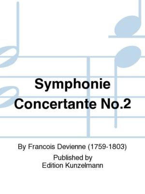 SymphonieConcertanteNo.2para oboe (clarinete), fagot y orquesta.FrancoisDevienne