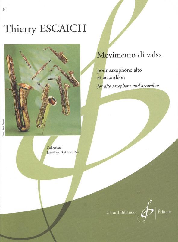 Movimentodivalsa(2016)para saxofón alto y acordeón. Thierry Escaich