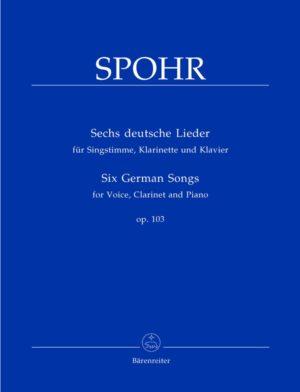SechsdeutscheLiederop.103para clarinete y piano. LouisSpohr