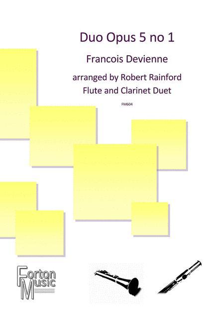 Duoop.5No.1para flauta y clarinete.FrancoisDevienne