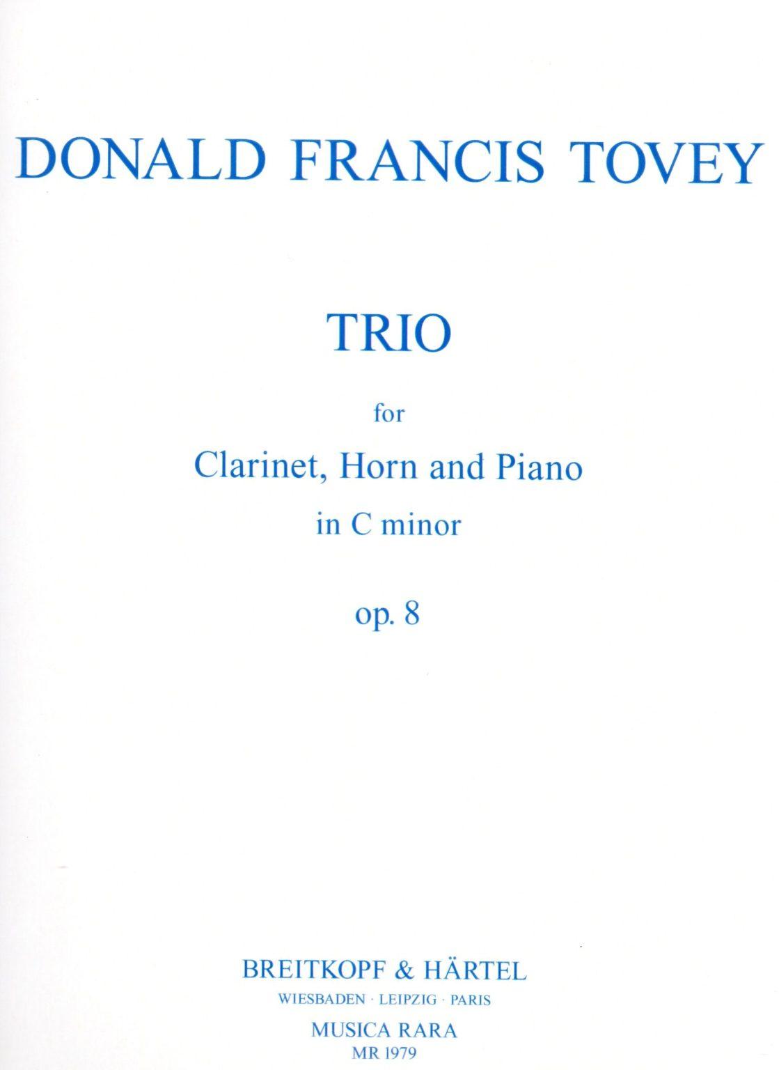 Trioop.8para clarinete, trompa y piano. DonaldFrancis Tovey