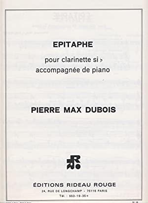 Epitaphe(1971)para clarinete y piano. PierreMax Dubois