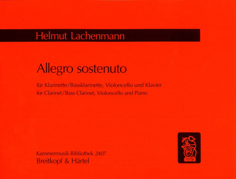 AllegroSostenuto(1986/88) para clarinete o clarinete bajo y violon. Helmut Lachenmann