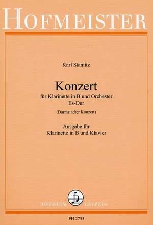 KonzertinB-Durpara clarinete, fagot, orquesta. CarlStamitz