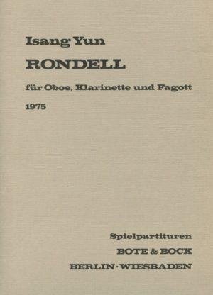 Rondell(1975)para oboe, clarinete, fagot. Isang Yun