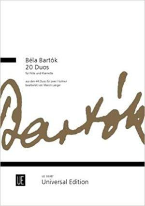 20Duospara para flauta y clarinete. Bela Bartok