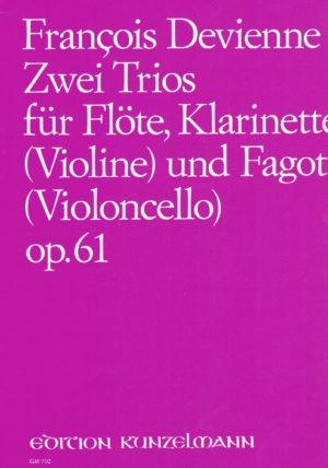 ZweiTriosop.61para flauta, clarinete en C (violín) y fagot. FrancoisDevienne