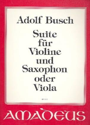 Suite(1926)para violín y clarinete. AdolfBusch