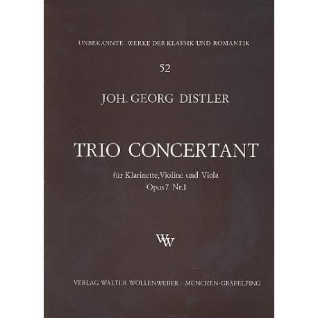TrioConcertantop.7No.1para clarinete, violín y viola. JohannGeorgDistler