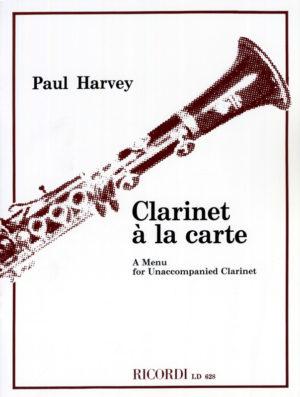 ClarinetalaCarte. Paul Harvey