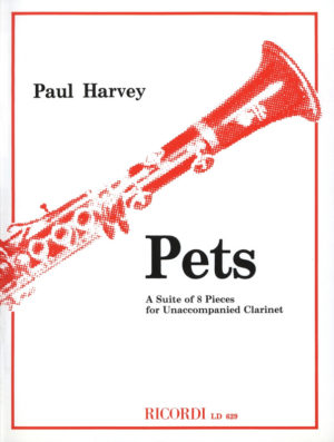 Pets(1979)para clarinete solo.Paul Harvey