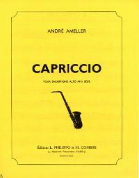 Capriccio(1974)para saxofón alto solo. Andre Ameller