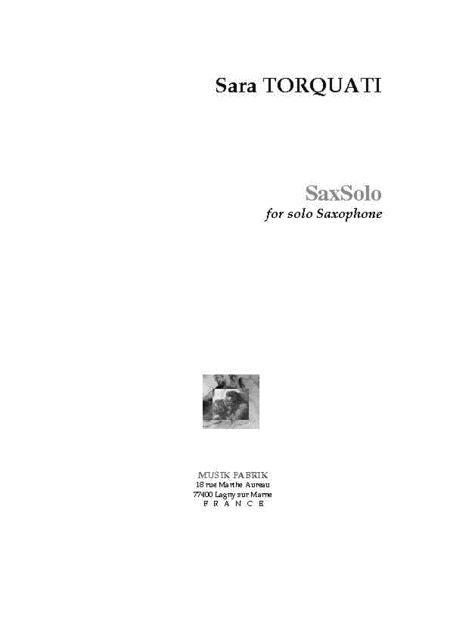SaxSolo(1988) Sara Torquati