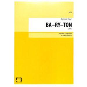 BA-RY-TON(2001) Gerhard Braun