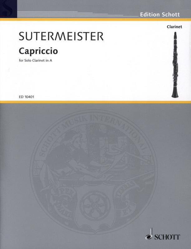 Capriccio(1946)para clarinete en A solo. Heinrich Sutermeister