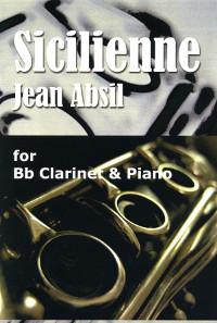 Siciliennepara clarinete y piano. Jean Absil