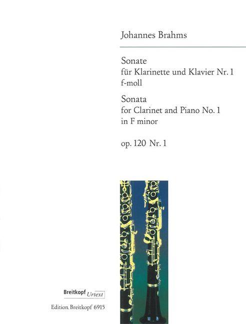 Sonateinf-mollop.120No.1 para clarinete y piano. Johannes Brahms