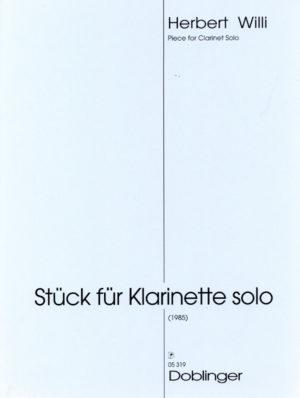 Stückpara clarinete solo(1985)Herbert Willi