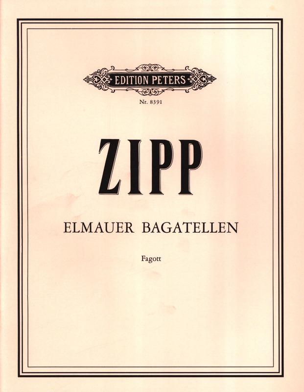 ElmauerBagatellen(1974) para clarinete solo. Friedrich Zipp