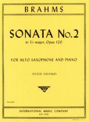 Sonate in Es-Dur op.120 No.2 en un arreglo para saxofón alto y piano. Johannes Brahms